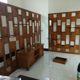 Teak Wood Room Partition