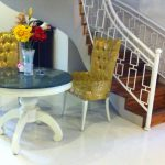 Green Marble Dining Table & Stairs